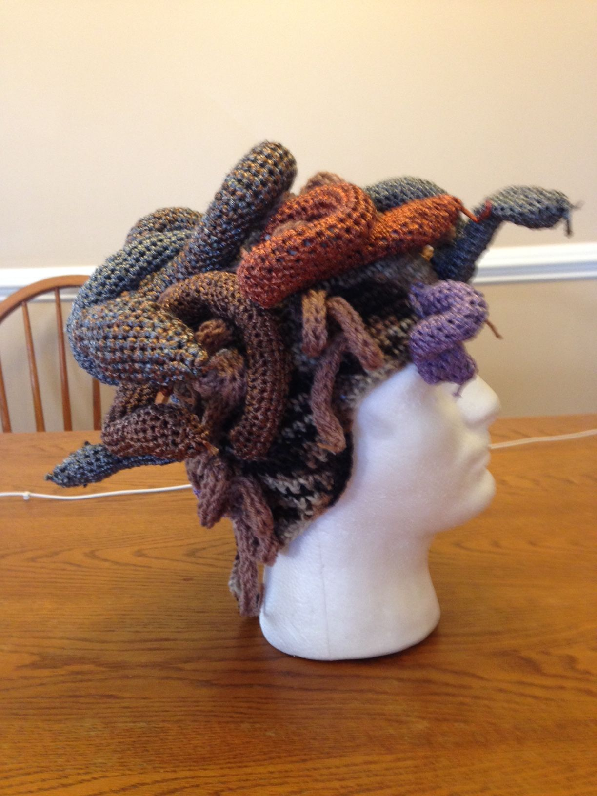 2f98d7b0897 Knit This Medusa Headpiece and Easily Turn Enemies To Stone – FREE PATTERN