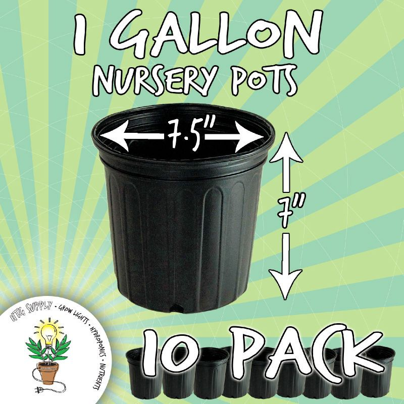 10 Nursery Pots 1 2 3 5 7 Gallon Grow Black Plastic Gal Ebay Gallon Nursery 10 Things