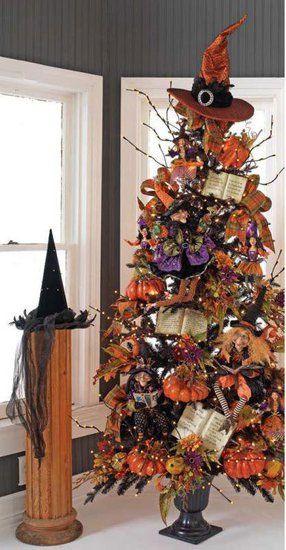 20 Cool Halloween Trees You Can Make Halloween Trees Halloween Decorations Fall Halloween Decor
