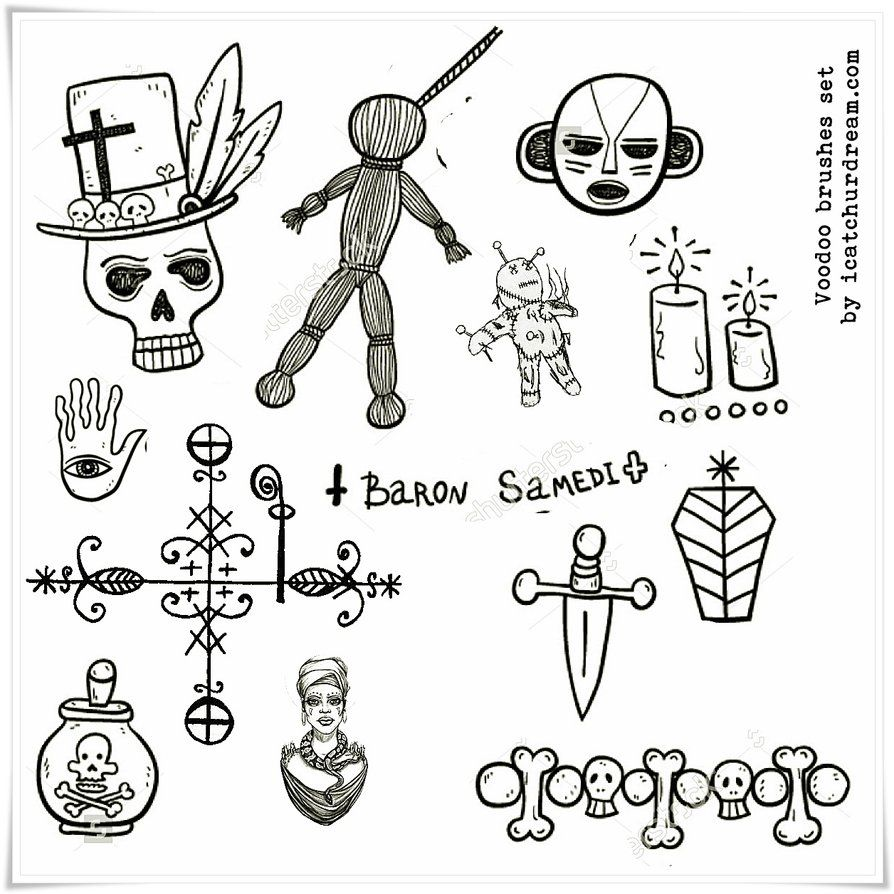 Voodoo symbols PS brushes by iCatchUrDream deviantart com on