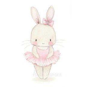 Bunny ballerina by aida zamora 2018 pinterest bunny art watercolor - Wandbilder baby ...