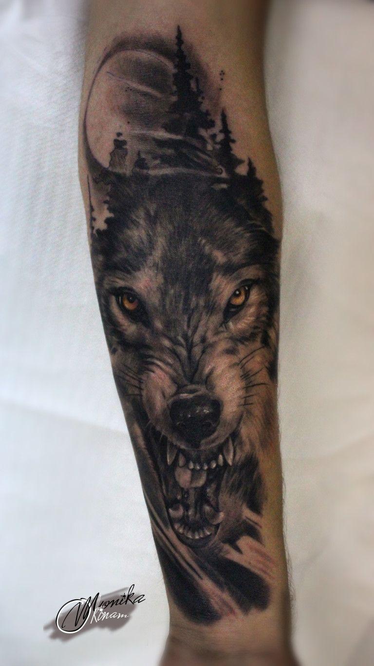 wilk, wolf, tattoo, Bukaa tattoo