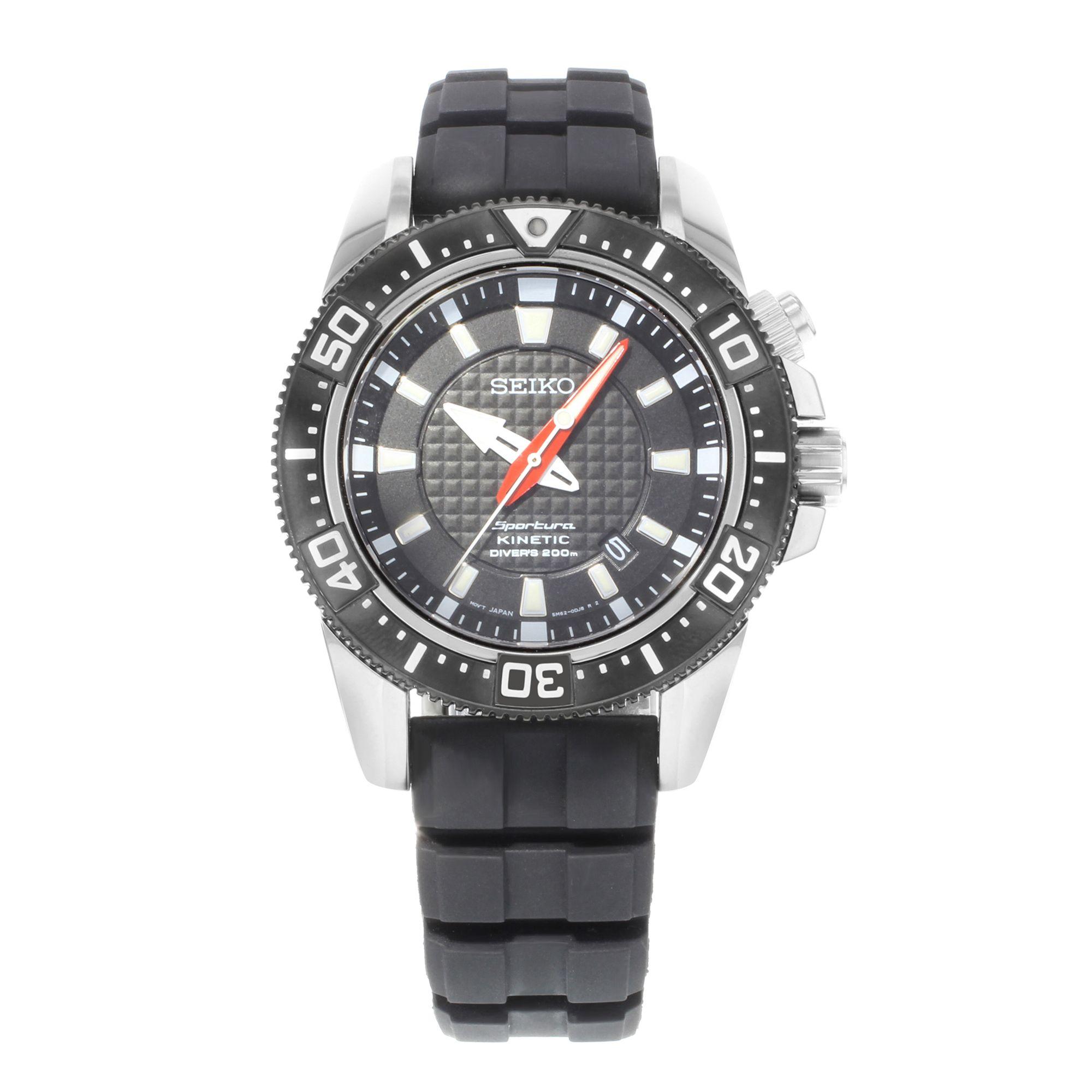 Seiko Sportura SKA513 161021 Stainless Steel Kinetic Quartz Men's Watch