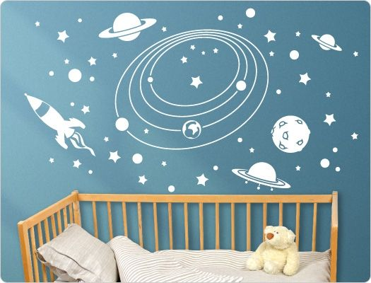 Wandtattoo Kinderzimmer Weltall | kool kids rooms | Kinder ...