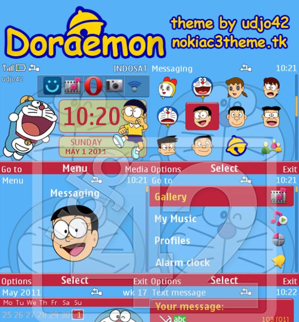 Wallpaper Aplikasi Doraemon Doraemon Nokia C3 Theme