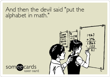 Love this so much I had to share it with my HS Algebra teacher on FB  :D