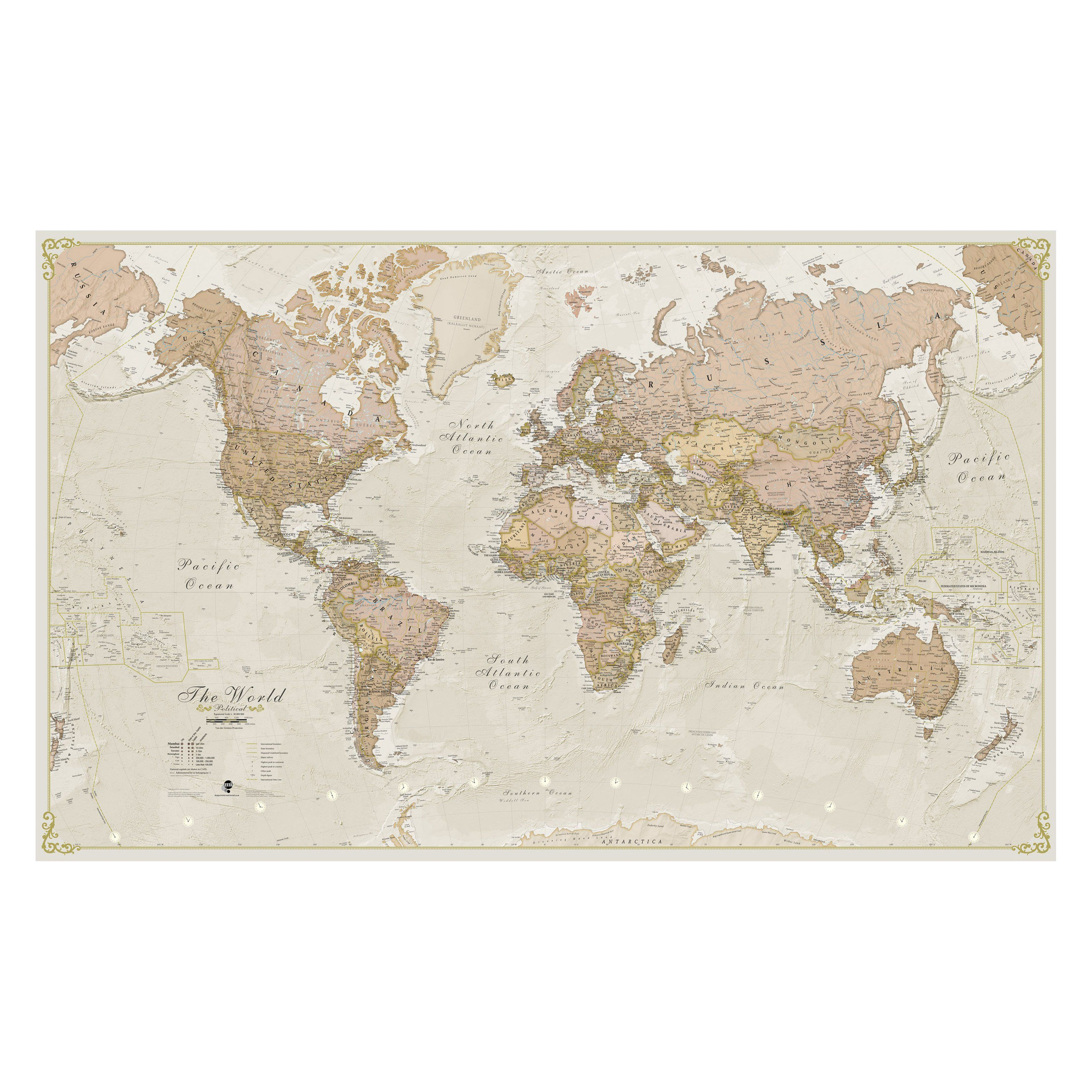 waypoint geographic maps international world antique 1 20 on laminated wall maps id=41673