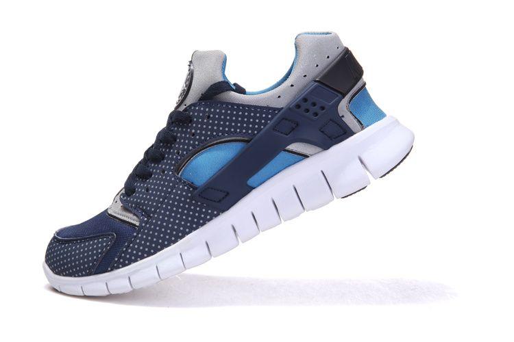 Nike Huarache Libre 2012 Mens Zapatos Negros Corriendo La Cinta / Gris