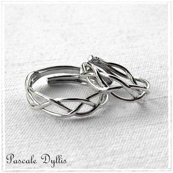 alliance bague anneau elfique ajustable argent massif pour homme ou femme bijoux mariage bague. Black Bedroom Furniture Sets. Home Design Ideas