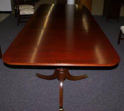 Mahogany Duncan Phyfe dining room table