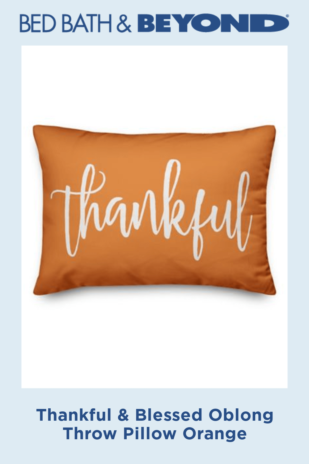 Thankful & Blessed Oblong Throw Pillow   Fall throw pillows