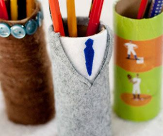 Custom Pencil Holder - DIY Fathers Day Gift Ideas from Kids - Click for Tutorial