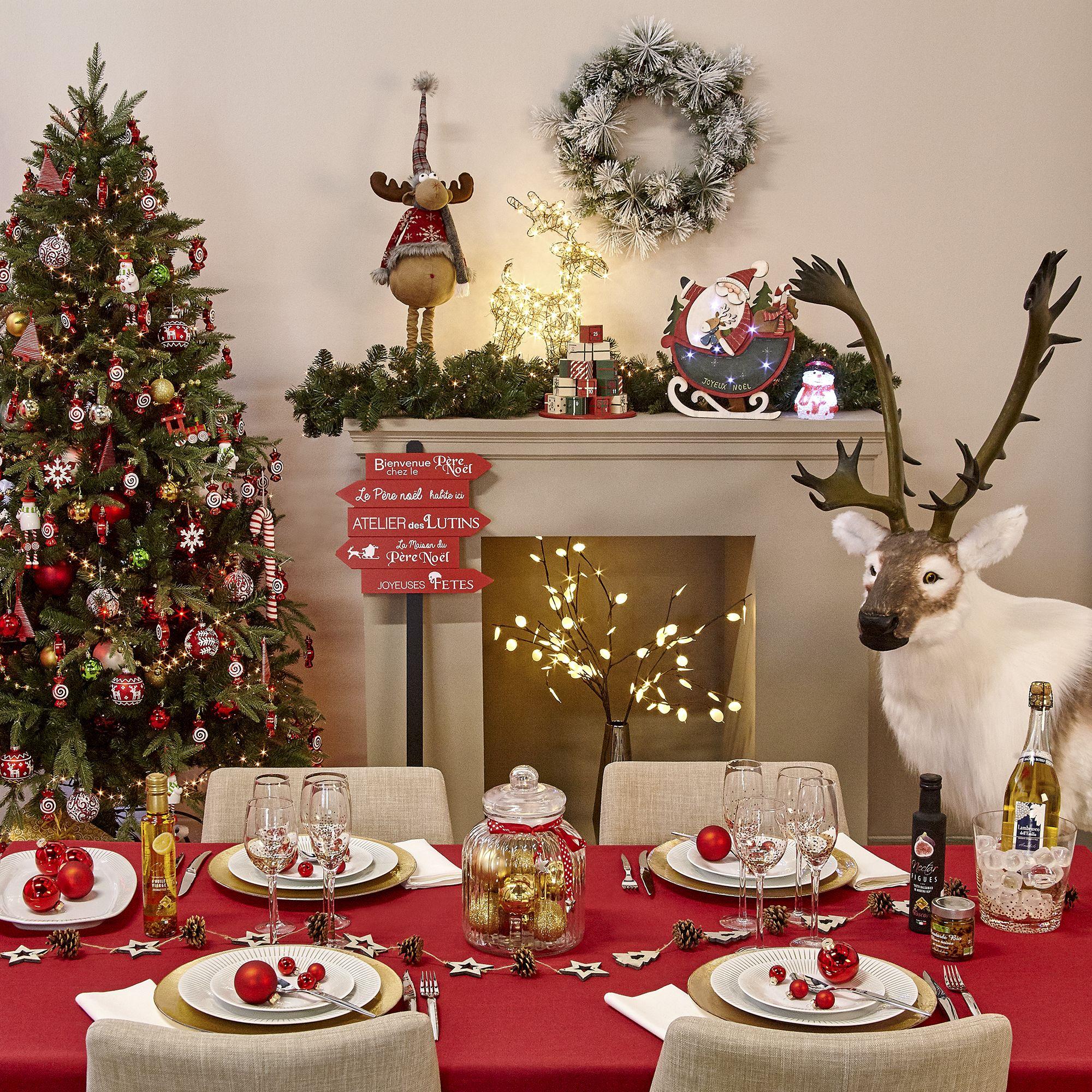 Alinea Noel Décoration   Noël   Déco   Maison   Alinéa | Deco noel, Table de