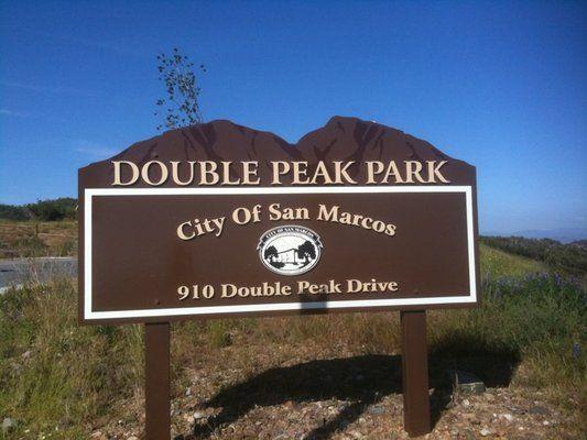 Double Peak Park San Marcos Ca 1850 Realty San Marco San Park
