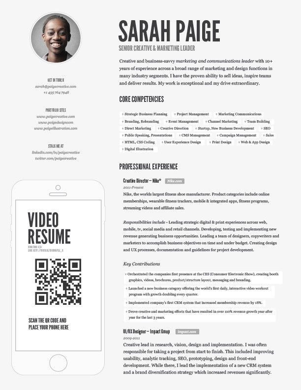 Paige Video Resume - foundresumes Field tested resumes proven - video resume