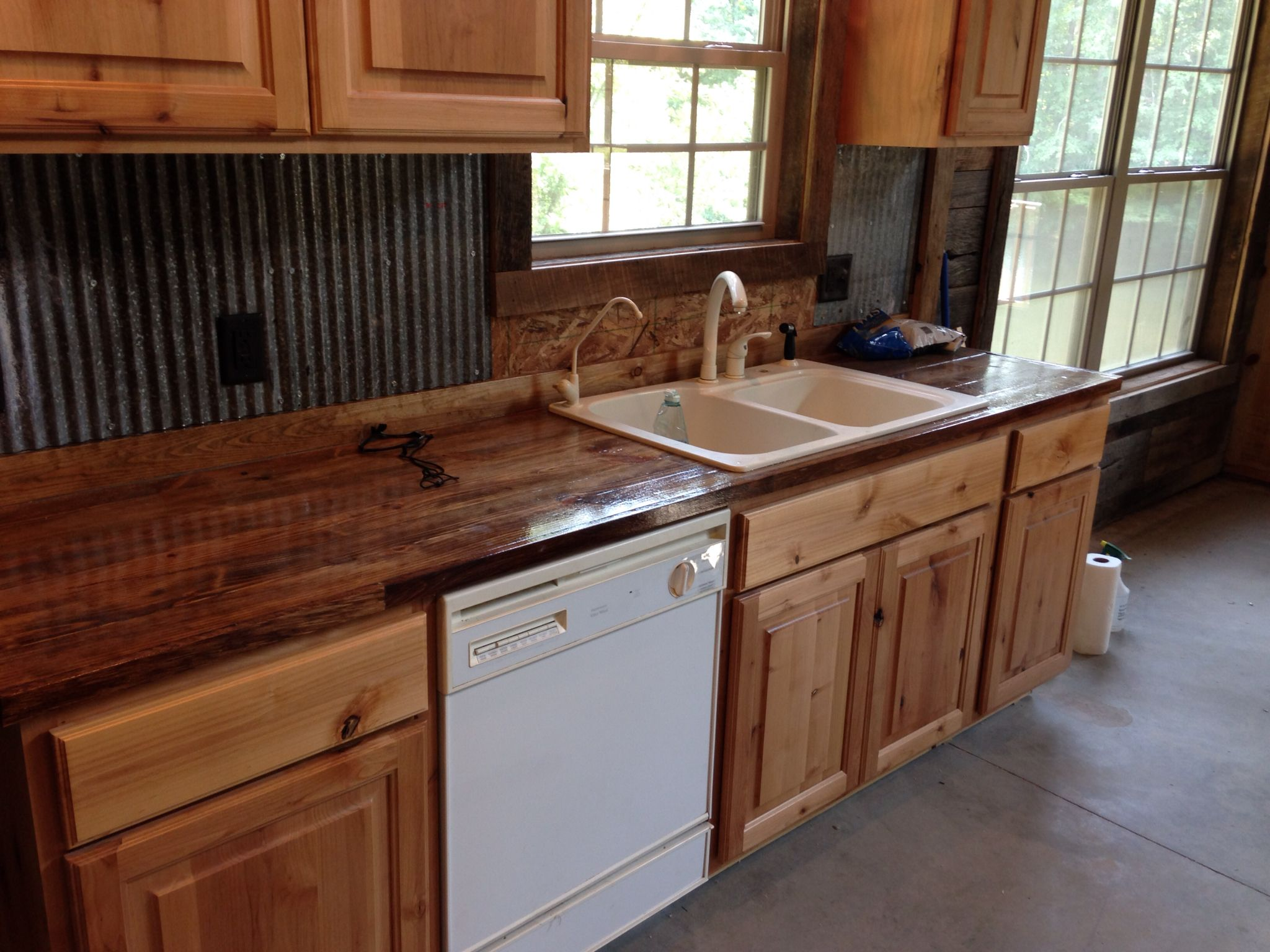 Southern Yellow Pine Distressed Countertops Southern Yellow Pine Countertops Cabin