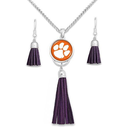 Clemson tigers tassel dome necklace and earrings set spor https clemson tigers tassel dome necklace and earrings set spor https mozeypictures Image collections