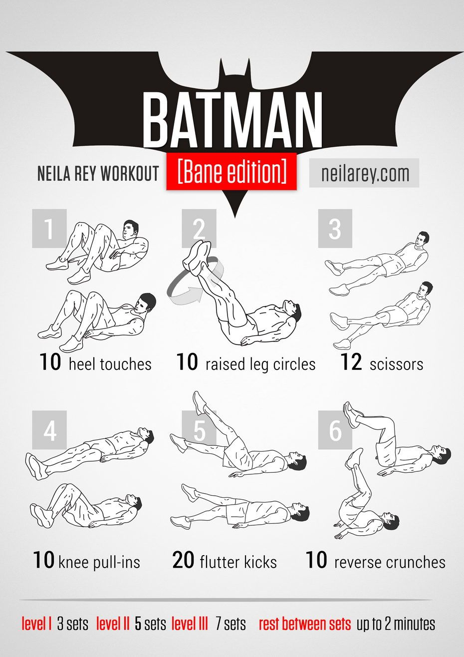 Batman [Bane Edition] Workout / works: lower abs, quads, upper abs ...