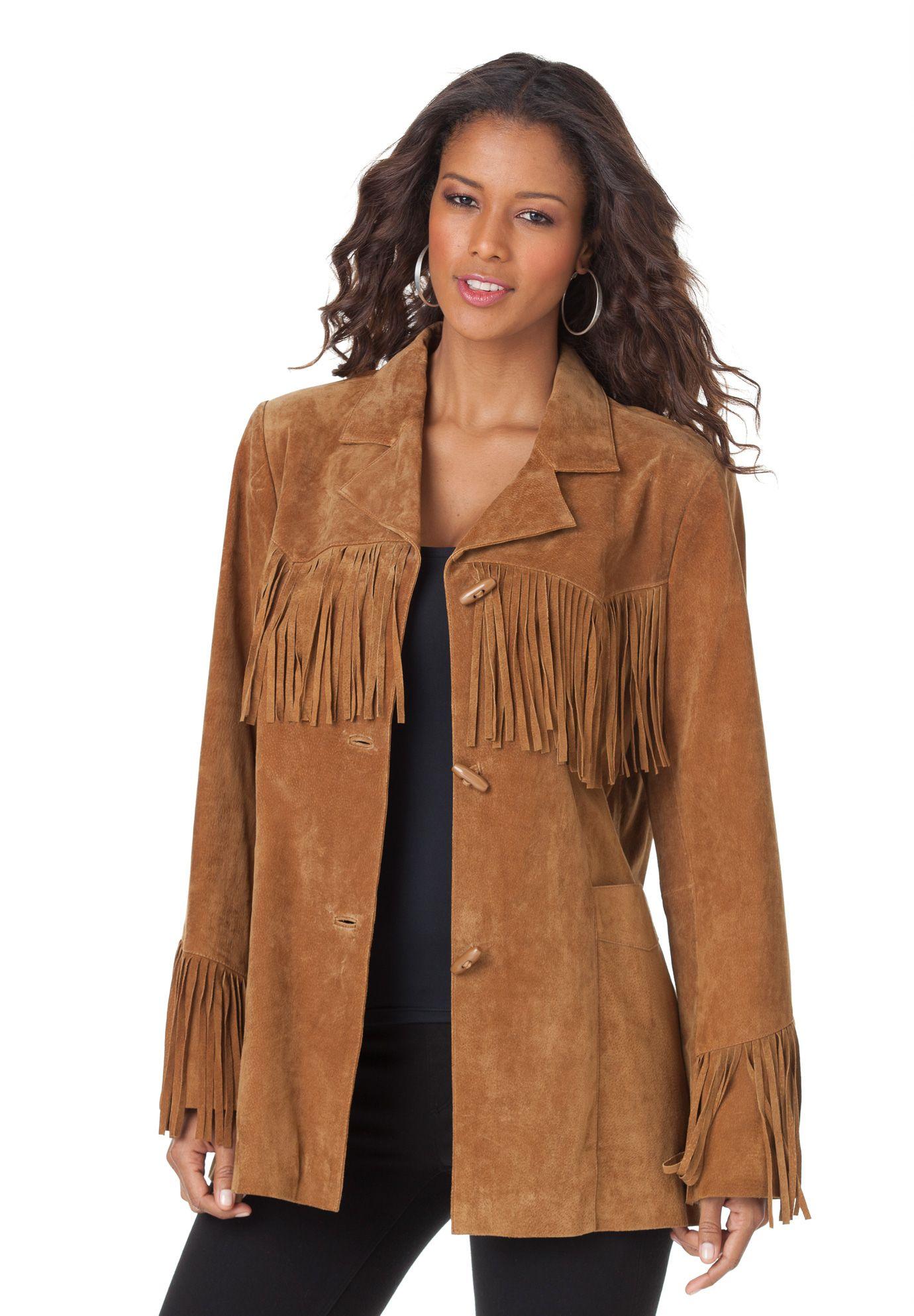 vintage fringed leather jacket Fringed leather suede jacket Vintage suede leather jacket 80s Vintage leather nail with blue fringe