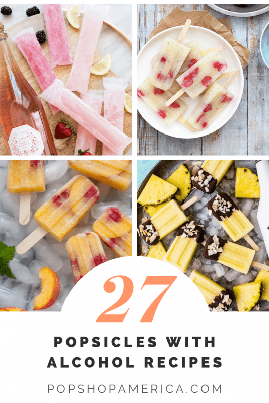 27 Popsicle with Alcohol Recipes for a Boozy Summer #champagnepopsicles It wouldn't be summer without popsicles and here's a twist on the summer standard – popsicles with alcohol! It's fun in the sun, party perfect, and totally delicious. Here are 27 different recipes that are twists on classic cocktails and brand new cocktails too. There are cocktail popsicles with gin, vodka, rum, wine, champagne, bourbon, [...] #champagnepopsicles
