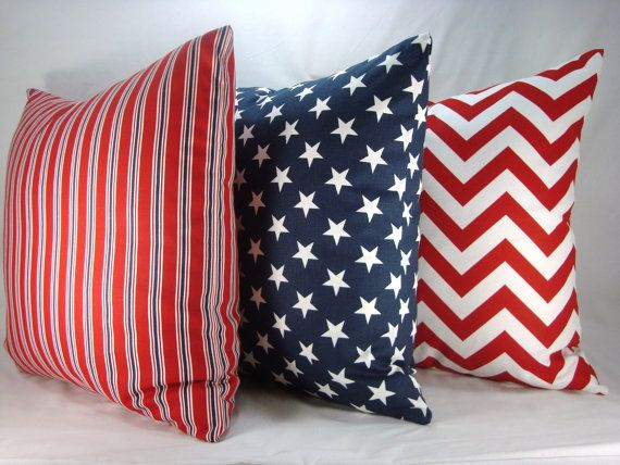 Red White And Blue Decorative Pillows Accent By CreativeTouchDecor Best Red And Blue Decorative Pillows