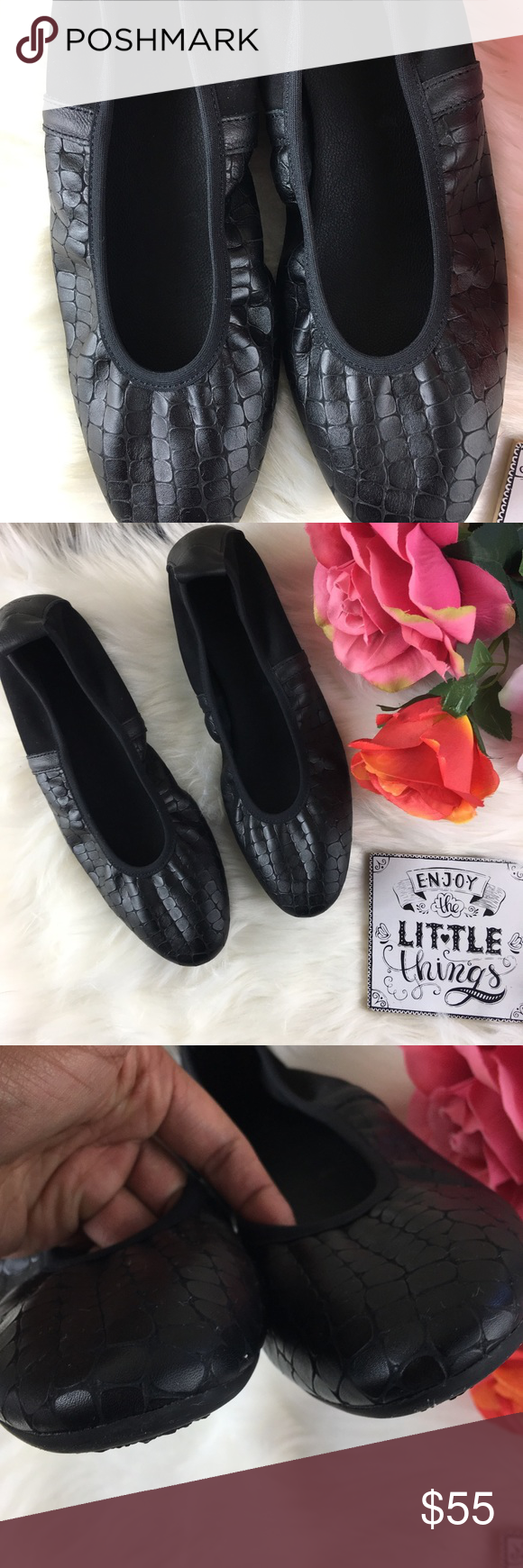 67d07781142652 {Arche} made in France elastic flats size 39 Made in France arche elastic  flats