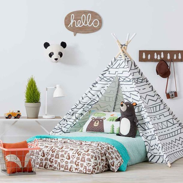 Pull Up A Bean Bag From The Camp Kiddo Room Collection From Pillowfort And  Get Ready For Storytime. This Kidsu0027 Bedroom Collection Includes Woodland  Sheets, ...