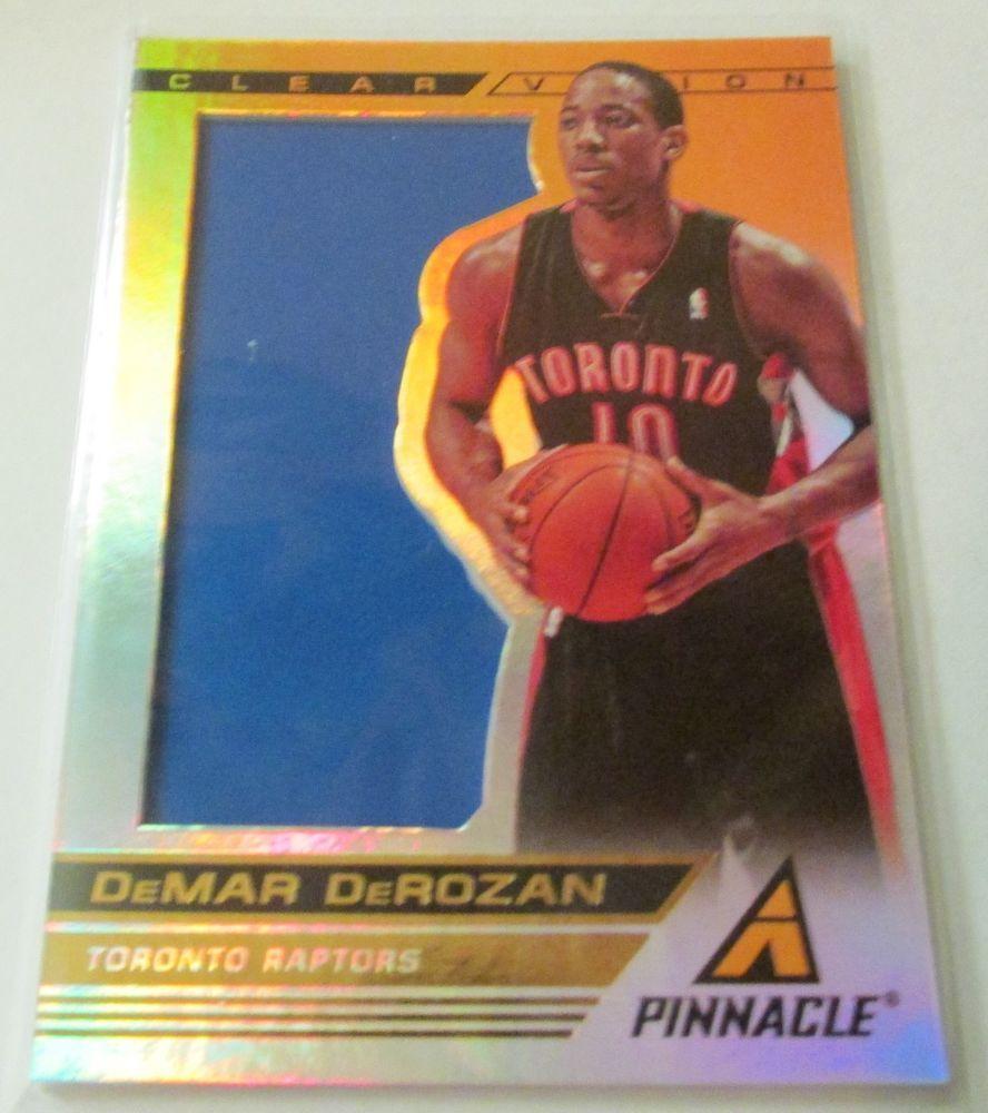 201314 pinnacle clear vision demar derozan basketball
