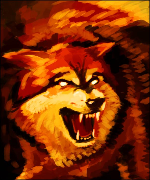 Elemental Wolf Fire by on