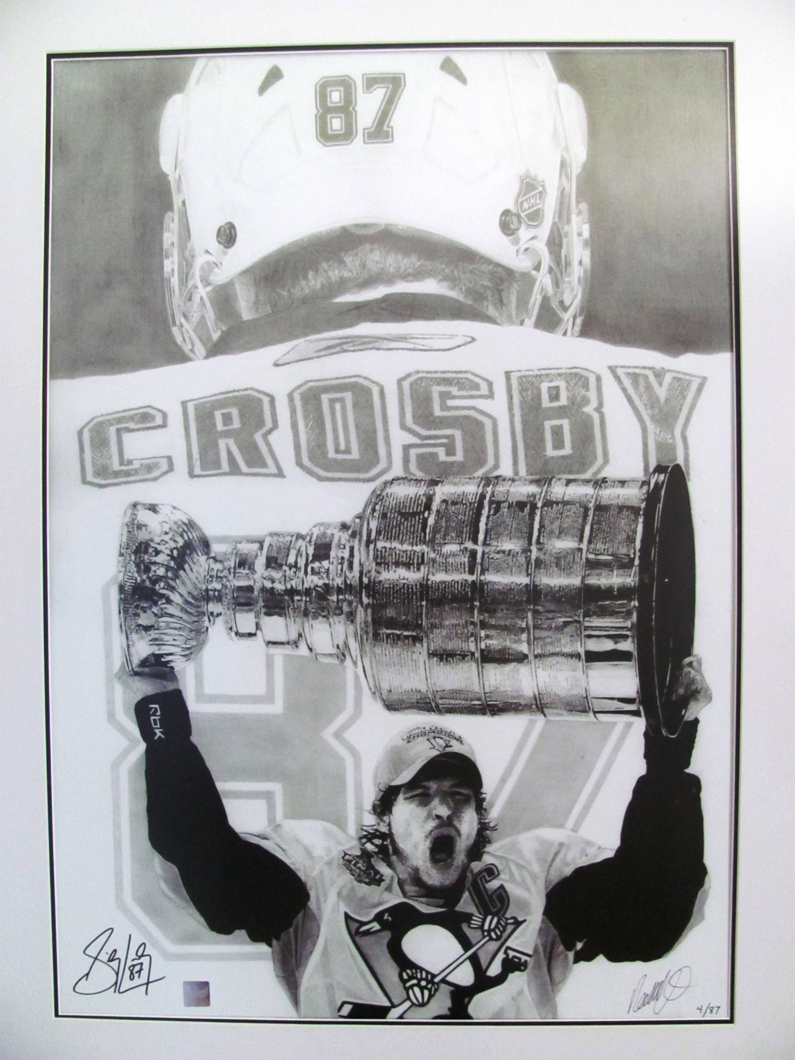 A Pencil Drawing Of Sidney Crosby Of The Pittsburgh Penguins Of The Nhl Created By Artist Robb Scott This Draw Drawings Sidney Crosby Black And White Drawing