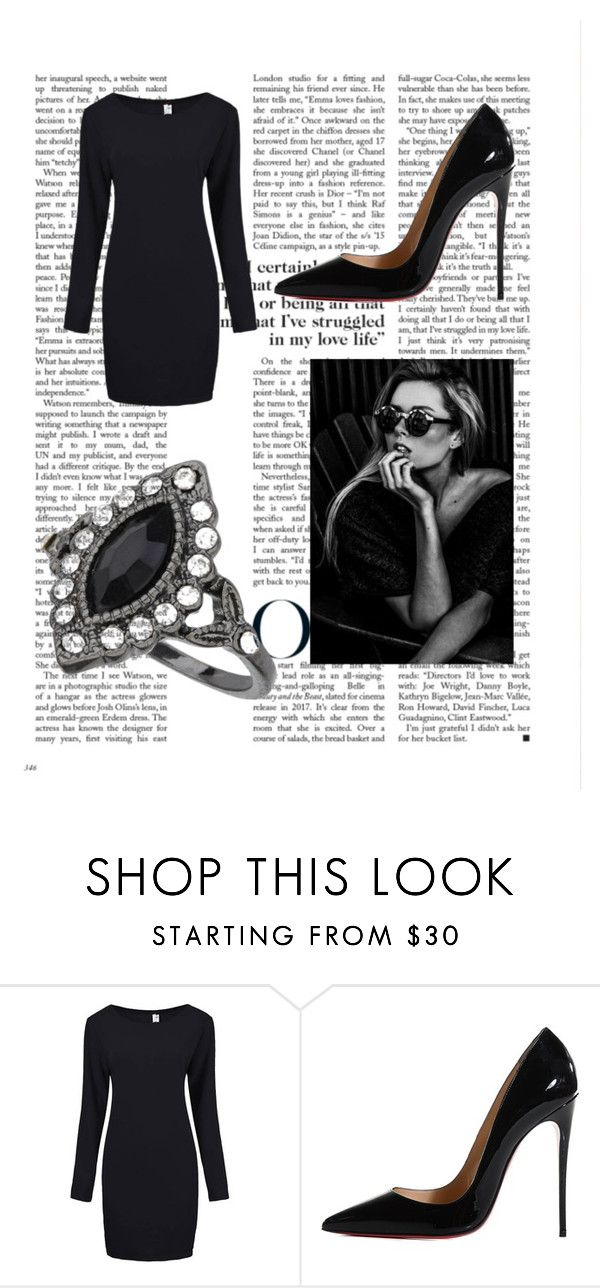 """""""luxary on brodway"""" by debowcakes ❤ liked on Polyvore featuring Christian Louboutin and Miss Selfridge"""