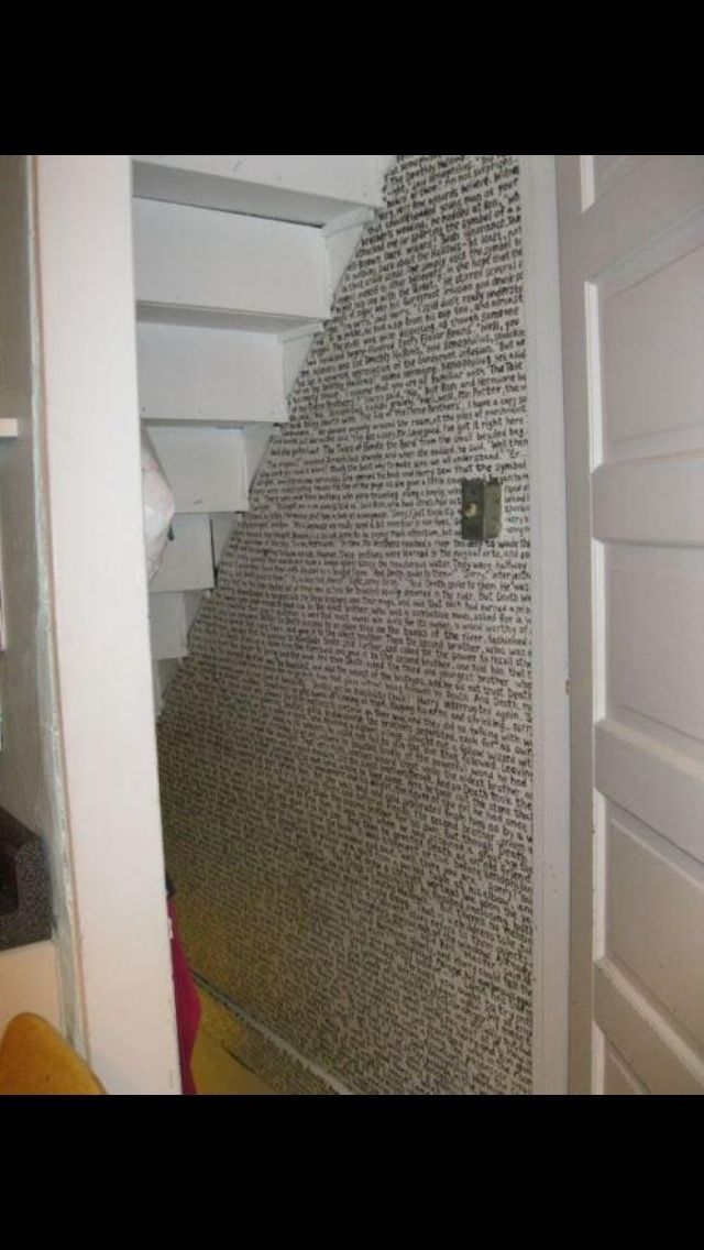 The Entire First Chapter Of The First Book Conveniently Written Under A Staircase Under Stairs Cupboard Under Stairs Harry Potter