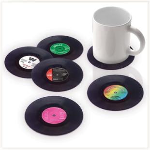 Dessous De Verre Vinyle Vintage Vinyle Dessous De Verre