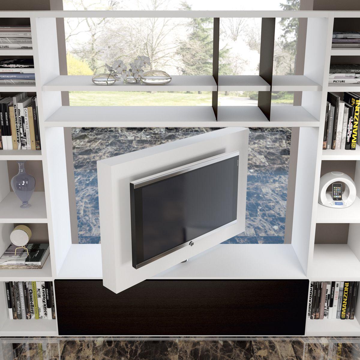 Porta tv girevole orientabile free view 360 mood dettaglio prodotto mb muebles para tv - Porta televisore da parete ...