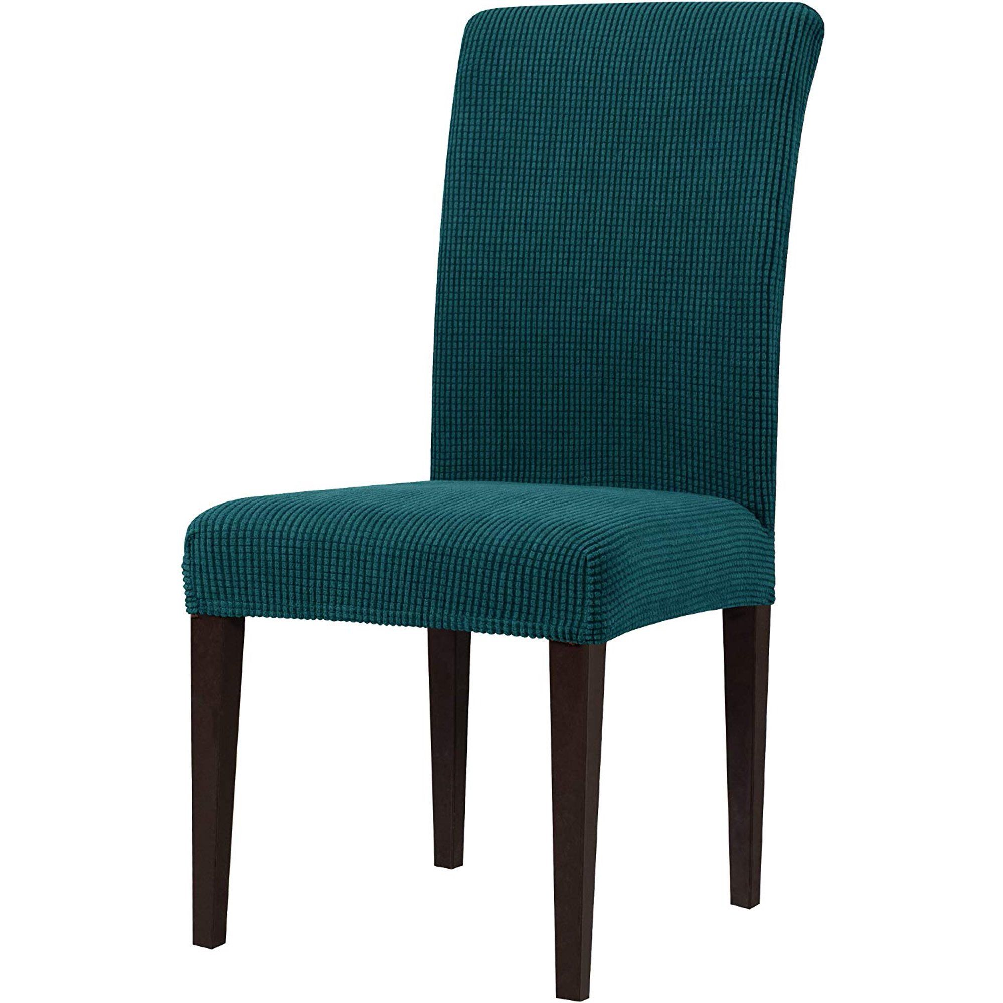 Subrtex Stretch Textured Grid Dining Chair Slipcover (Set