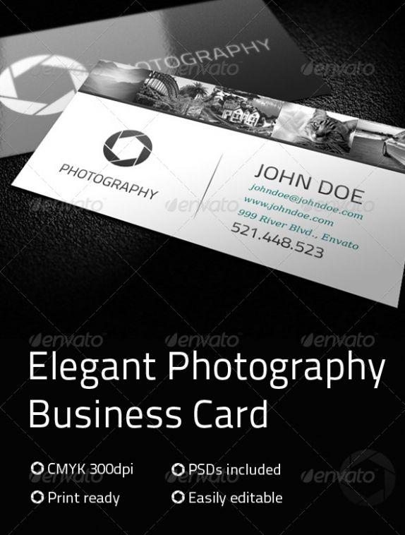 Elegant Photography Business Card Premium Template best namecard ...