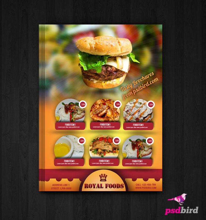 Free Hotel Menu Card\/Flyer PSD Receitas para cozinhar - free food menu template