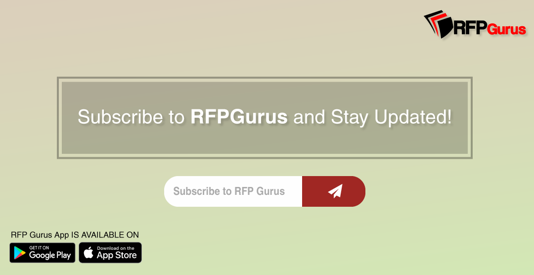 Subscribe to RFPGurus NOW! Hundreds & Thousands RFPs