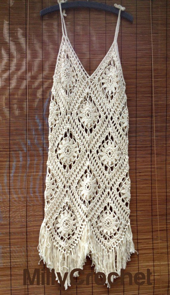 Boho Dress Crochet Pattern , Crochet Dress pattern Women PLUS cotton yarn, Cotton Yarn and pattern for summer crochet dress #shortslace