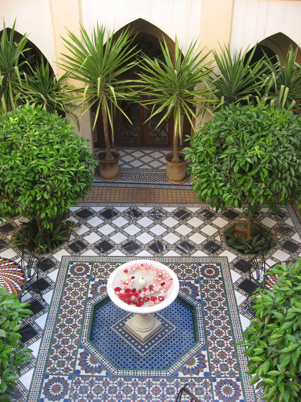 Jannah المغرب | Moroccan garden, Courtyard landscaping ... on Moroccan Backyard Design  id=25443