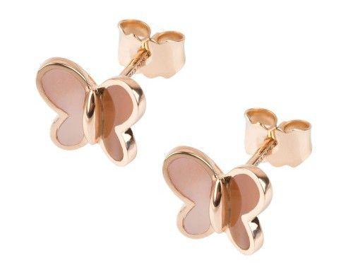Morgane Bello - Papillons Earrings Nacre and Rose Gold ~480 Euros