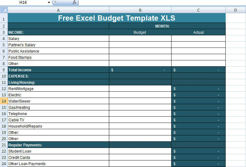 Free Excel Budget Template XLS | Excel Project Management Templates ...