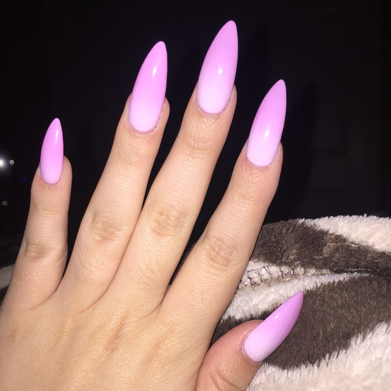 Baby Pink To White Color Changing Ombr 233 Stiletto Nails Nails Pinterest Double Team
