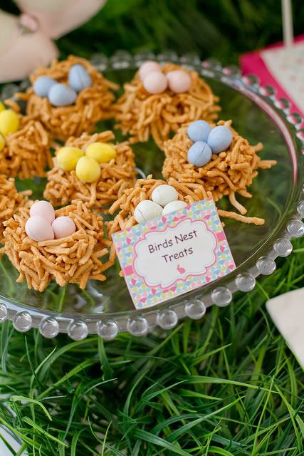 Easter birthday birds nest snacks