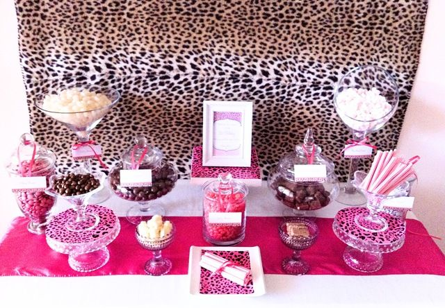 brown & pink cheetah print birthday party ideas | for nini's bday ...