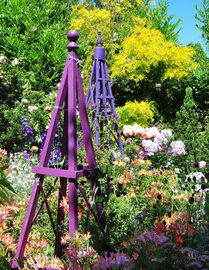 How To Sharpen Clean Garden Tools Obelisks Trellis And Purple Garden