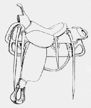 how to draw a horse with a saddle