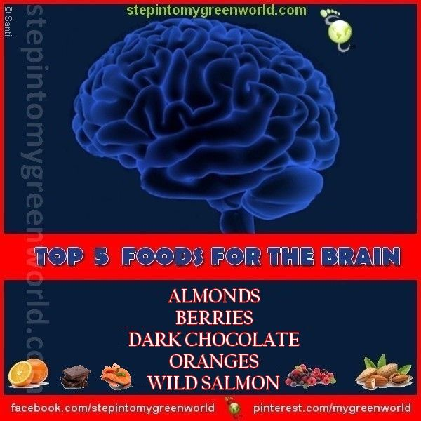 ☛ Eat the right foods for brain health.  FOR ALL YOU NEED TO KNOW:  http://www.stepintomygreenworld.com/greenliving/greenfoods/top-brain-foods/  ✒ Share | Like | Re-pin | Comment