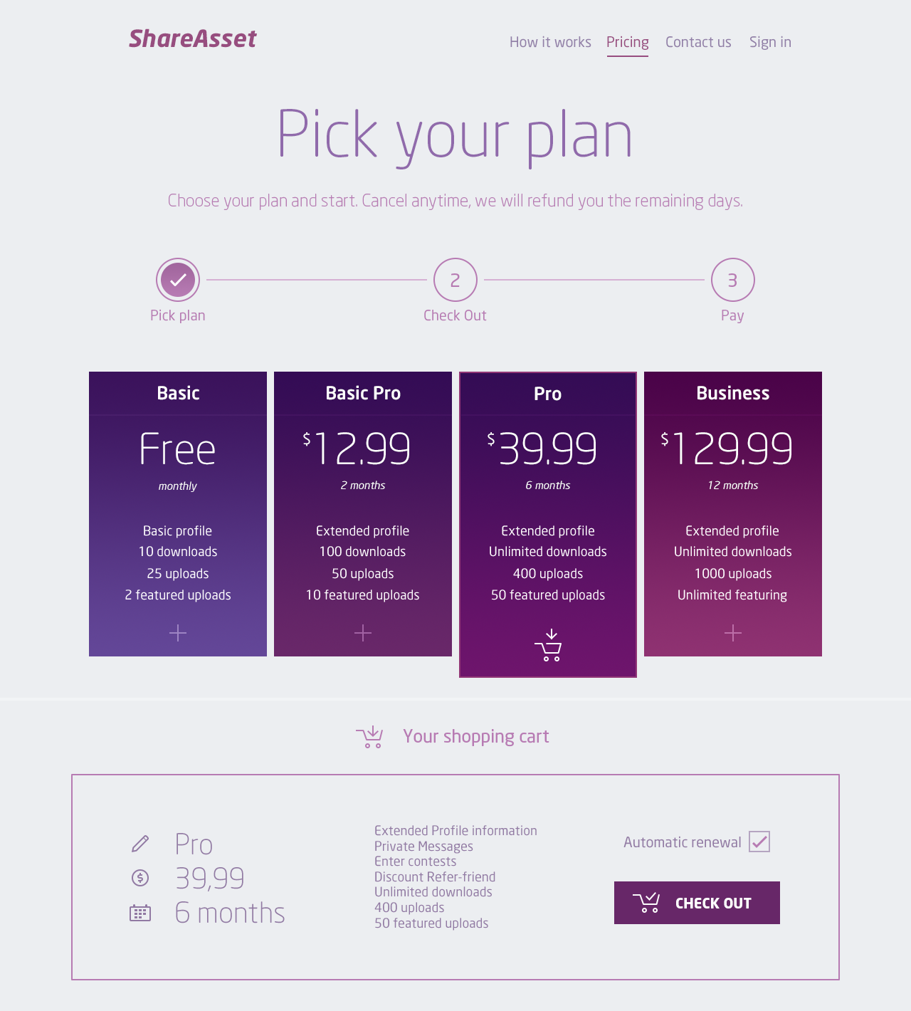 Pricing Plans Landing Page By Marco Magro Web Design Quotes Web Design Pricing How To Plan