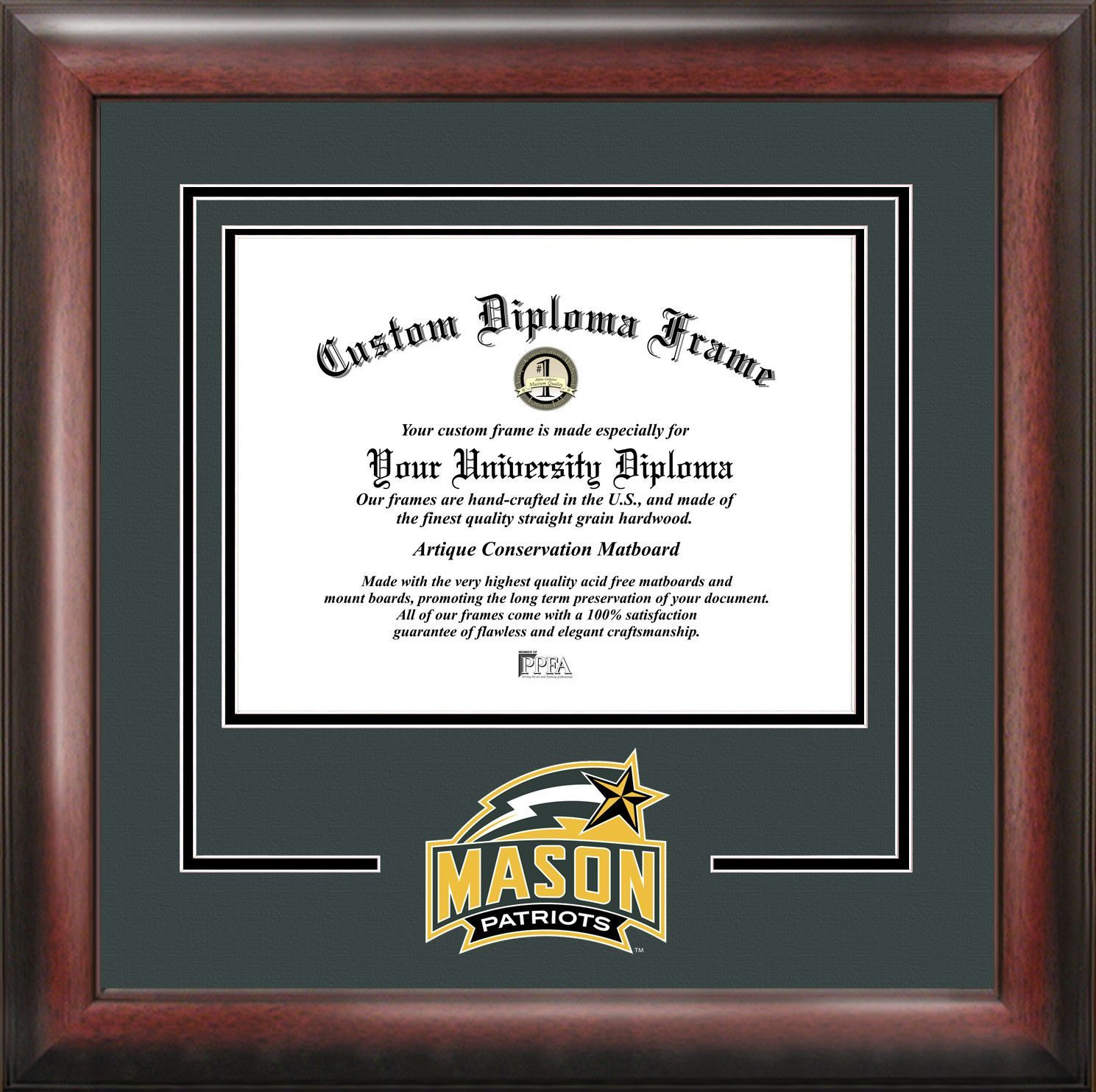 NCAA George Mason University Spirit Diploma Picture Frame